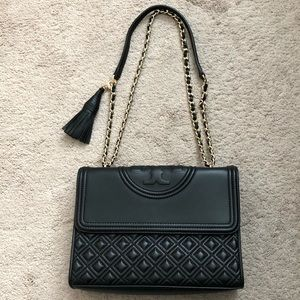 Tory Burch Large Fleming Leather Convertible Bag